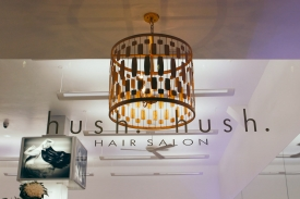 Hush Hush Hair Salon Sign